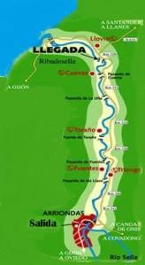 Mapa del descenso del sella