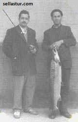 pescadores en el rio sella