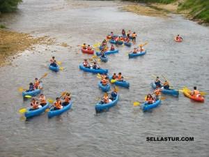 el rio sella en canoa